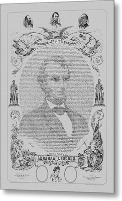 The Emancipation Proclamation Metal Print by War Is Hell Store