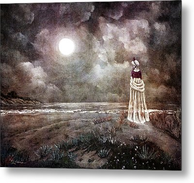 The Fading Memory Of Annabel Lee Metal Print by Laura Iverson