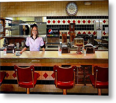 The Fifties Diner Metal Print by Doug Strickland