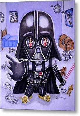 The Force Is Strong With This One Metal Print by Al  Molina