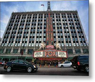 The Fox Theatre In Detroit Welcomes Charlie Sheen Metal Print by Gordon Dean II