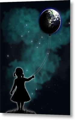 The Girl That Holds The World Metal Print by Nicklas Gustafsson