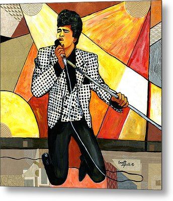 The Godfather Of Soul James Brown Metal Print by Everett Spruill