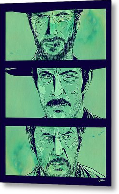 The Good The Bad And The Ugly Metal Print by Giuseppe Cristiano