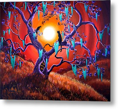 The Halloween Tree Metal Print by Laura Iverson