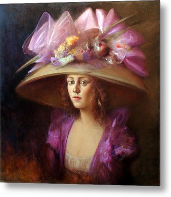 The Hat Metal Print by Loretta Fasan