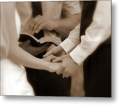 The Joining Of Hands Metal Print by Cindy Wright