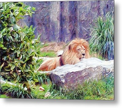 The King At Rest Metal Print by Methune Hively