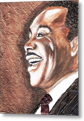 The King Smiles Metal Print by Keenya  Woods