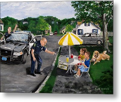 The Lemonade Stand Metal Print by Jack Skinner