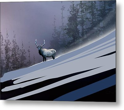The Magnificent Elk Metal Print by Paul Sachtleben