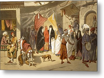 The Marriage Of An Arab In Cairo Metal Print by French School