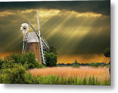 The Mill On The Marsh Metal Print by Meirion Matthias