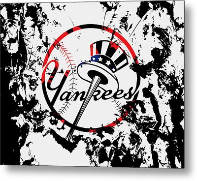The New York Yankees 1b Metal Print by Brian Reaves