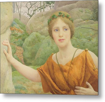The Nymph Metal Print by Thomas Cooper Gotch