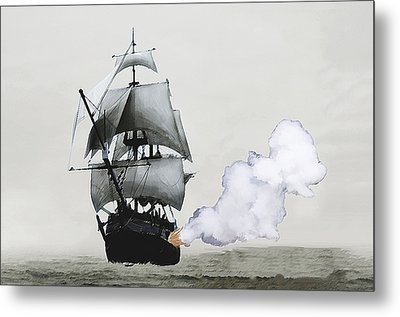 The Old Pirate Metal Print by Tyler Martin