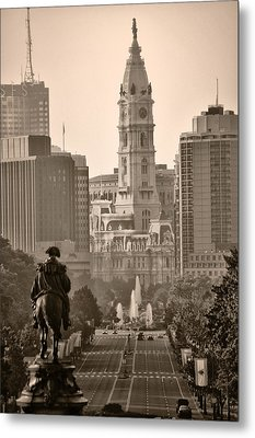 The Parkway In Sepia Metal Print by Bill Cannon