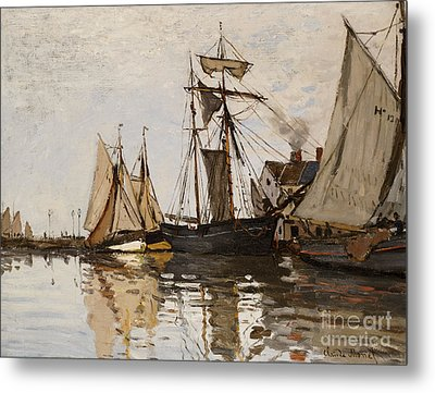 The Port Of Honfleur Metal Print by Claude Monet