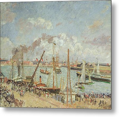 The Port Of Le Havre In The Afternoon Sun Metal Print by Camille Pissarro