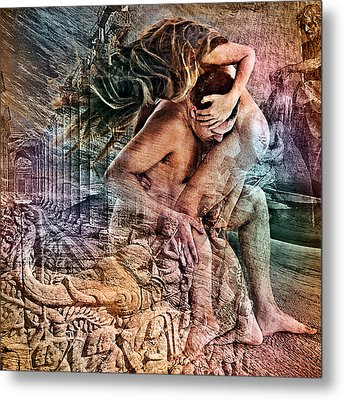The Prophet On Giving Metal Print by Barry Novis