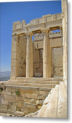 The Propylaia In Athens          The Propylaia - Vertical                                    Metal Print by Rich Walter