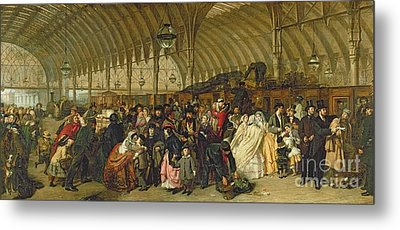 The Railway Station Metal Print by William Powell Frith