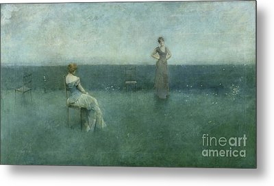 The Recitation Metal Print by Thomas Wilmer Dewing