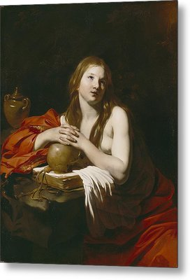 The Repentant Magdalene Metal Print by Nicolas Regnier