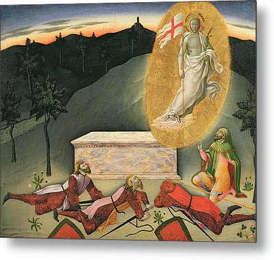The Resurrection Metal Print by Master of the Osservanza