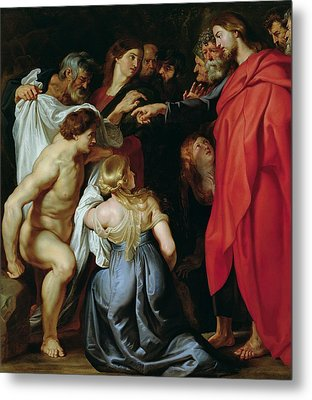 The Resurrection Of Lazarus Metal Print by Rubens