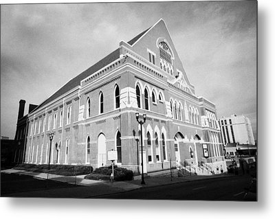 The Ryman Auditorium Former Home Of The Grand Ole Opry And Gospel Union Tabernacle Nashville Metal Print by Joe Fox