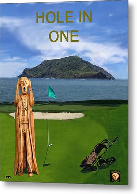 The Scream World Tour Golf  Hole In One Metal Print by Eric Kempson