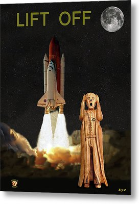 The Scream World Tour Space Shuttle Lift Off Metal Print by Eric Kempson
