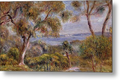 The Sea At Cagnes Metal Print by Pierre Auguste Renoir