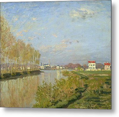 The Seine At Argenteuil Metal Print by Claude Monet