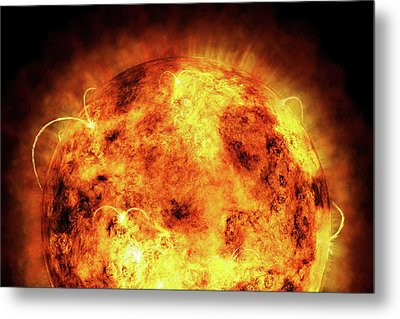 The Sun Metal Print by Michael Tompsett