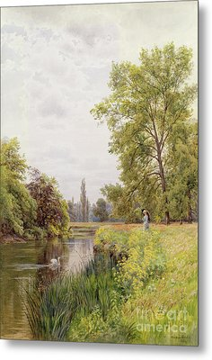 The Thames At Purley Metal Print by William Bradley