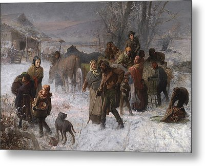 The Underground Railroad Metal Print by Charles T Webber