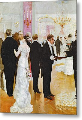 The Wedding Reception Metal Print by Jean Beraud
