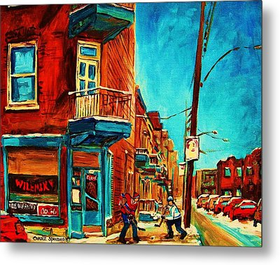 The Wilensky Doorway Metal Print by Carole Spandau