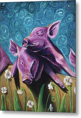 This Little Piggy Metal Print by Julie Fernandez