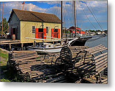 Thomas Oyster Co.- Mystic Metal Print by Thomas Schoeller