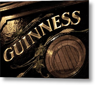 Time For A Guinness Metal Print by Sheryl Burns