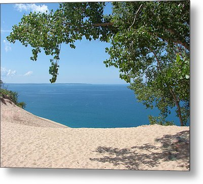 Top Of The Dune At Sleeping Bear Metal Print by Michelle Calkins