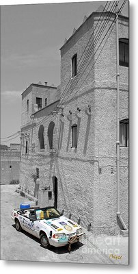 Tower And Car Metal Print by Sascha Meyer