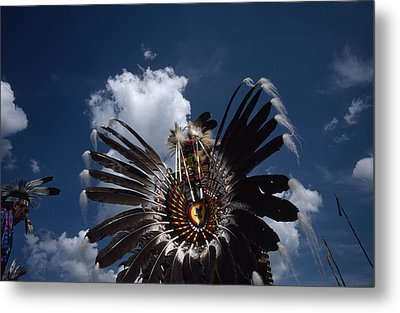 Traditional Native American Dancers Metal Print by Lynn Johnson