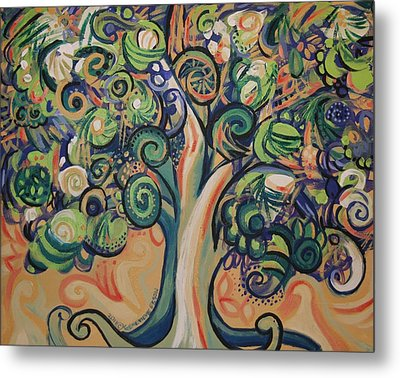 Tree Candy Metal Print by Genevieve Esson