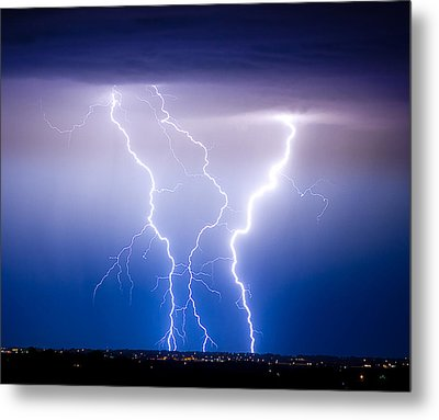Triple Lightning Metal Print by James BO  Insogna