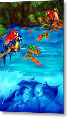 Tropical Lagoon Metal Print by Kathleen Kelly Thompson