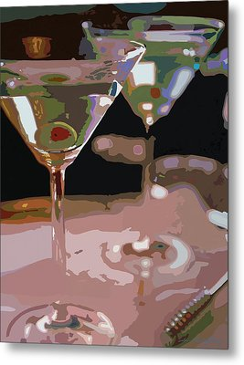 Two Martini Lunch Metal Print by David Lloyd Glover